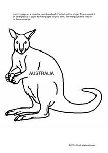 Australia Shape Book Worksheet