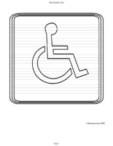 Handicapped Sign Worksheet