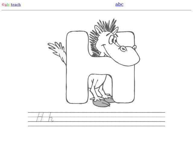 h is for horse denelian printing letter hh worksheet for kindergarten 1st grade lesson planet. Black Bedroom Furniture Sets. Home Design Ideas