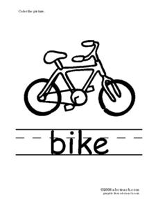 Phonics: Bike Worksheet