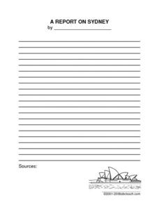 Report and Research Ideas for Australia Printables & Template