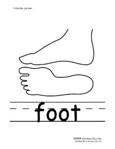 Phonics: Foot (Printing Practice) Worksheet for