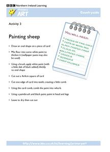 Painting Sheep Worksheet