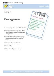 Painting Stones Worksheet
