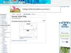 Kansas State Map Worksheet