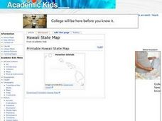 Hawaii State Map Worksheet