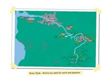 River Clyde, Scotland Pictoral Map Worksheet