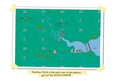 The River Forth-- Pictorial Map of Scotland Worksheet