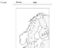 Map of Norway Worksheet