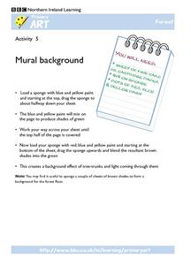 Primary Art:  Mural Background Worksheet