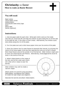 Christianity--Easter Worksheet