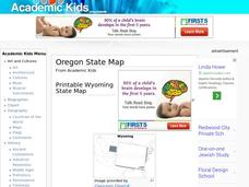 Oregon State Map Worksheet
