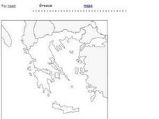 Map of Greece Worksheet