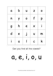 Phonics and Vowels Worksheet