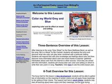 Color My World Grey and Blue Lesson Plan