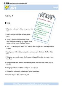 Fish: Sponge Painting Art Worksheet