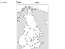 Map of Finland Worksheet
