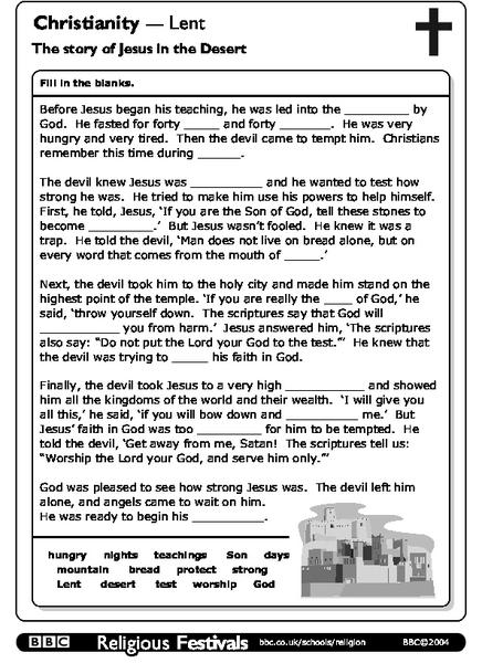 Christianity-Lent: The Story of Jesus in the Desert ...