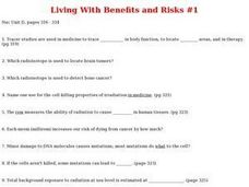 Living with Benefits and Risks Worksheet