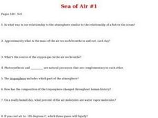 Sea of Air Worksheet