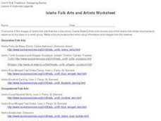 Isleno Folk Arts and Artists Worksheet Worksheet