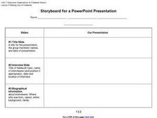Storyboard for a PowerPoint Presentation Worksheet