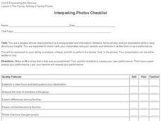Interpreting Photos Checklist Worksheet