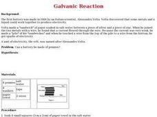 Galvanic Reactions Lesson Plan