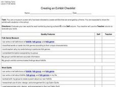 Creating an Exhibit Checklist Worksheet