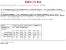 Radiation Lab Worksheet