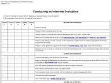 Conducting an Interview Evaluation Worksheet
