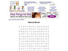 Musical Words Worksheet