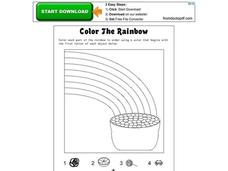 Color the Rainbow Worksheet