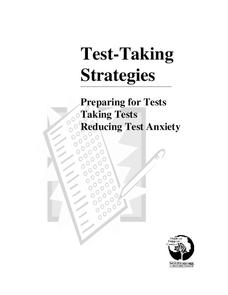 Test Anxiety Lesson Plans & Worksheets Reviewed by Teachers