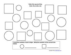 Color the Shapes Worksheet