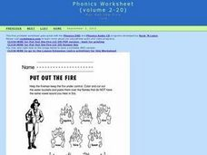 Phonics Worksheet-- Put Out the Fire Worksheet