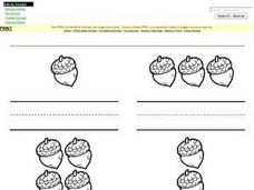 Counting and Writing Numbers 1 to 5 Worksheet
