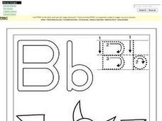 Bb: Bat Worksheet