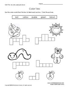Color Tiles Worksheet