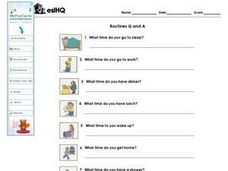Routines Q and A Worksheet