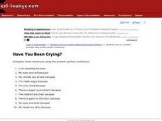 Have You Been Crying? Worksheet