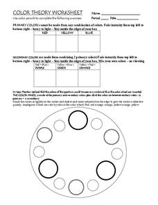 color theory worksheet for 5th 10th grade lesson planet. Black Bedroom Furniture Sets. Home Design Ideas