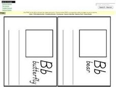 Letter Bb Pages for Mini Book Worksheet