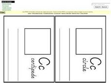Letter Cc Pages for Mini Book Worksheet