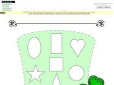 Geometric Shapes: Decorate the Leprechaun's Hat Worksheet