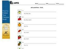 Asking Questions:  Fruits Worksheet