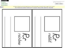 Four Letter R Pages for Letters Mini Book Worksheet