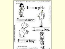 Learning Words: Am Worksheet