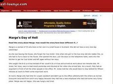 Marge's Day of Hell Worksheet
