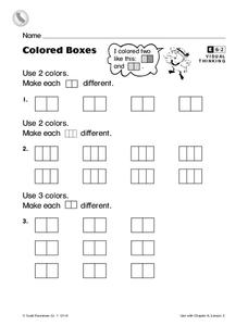 Colored Boxes Worksheet